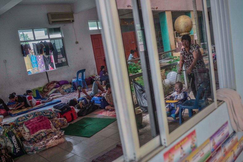 Flood victims are placed at evacuation centres due to their house was flooded in heavy rains at Temerloh, Pahang on January 04, 2015. In Pahang, 29,547 evacuees were recorded in 126 centres in seven affected areas. Temerloh has the 2nd largest number of victims with 10,576 people after Pekan. photo Adib Rawi Yahya