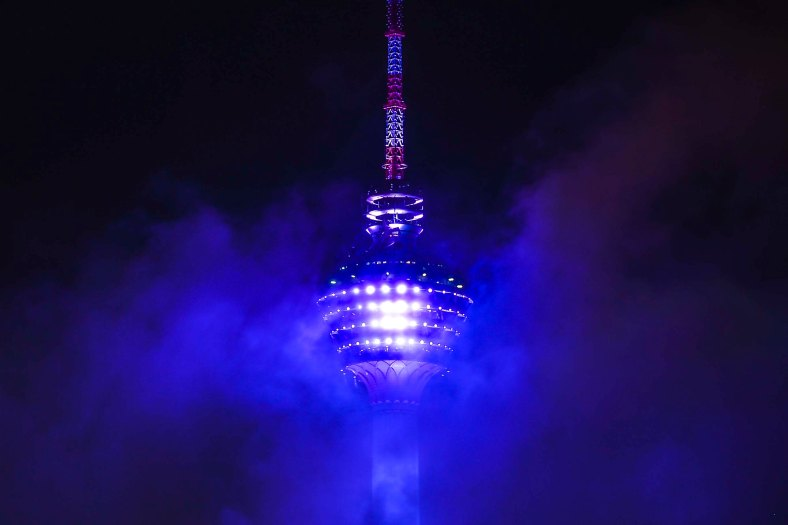 KL tower looks foggy during rainy day in Kuala Lumpur on November 01, 2015. Meteorologist Malaysia said, Northeast monsoon or rainy season has started in Malaysia with the first episode of heavy rain is expected to occur early in the first week of November. photo adib rawi yahya